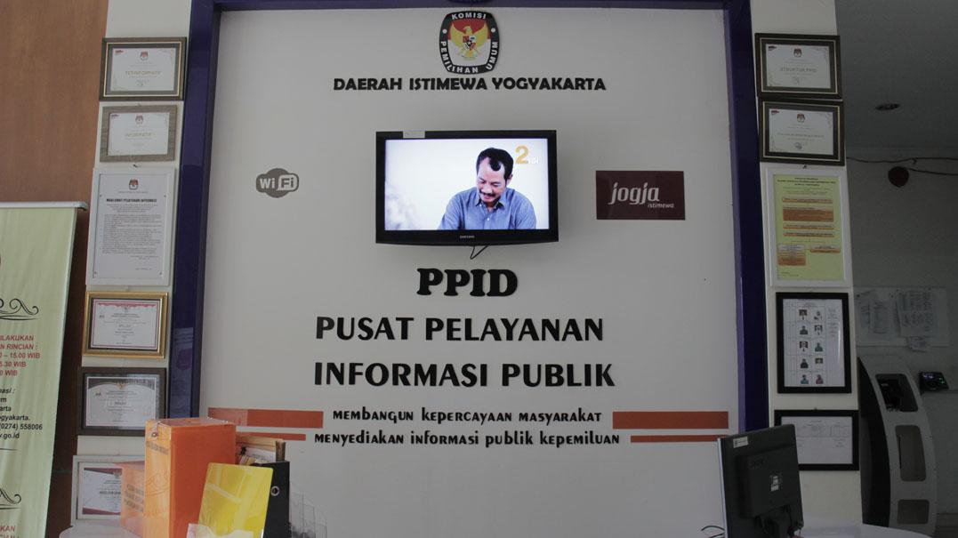 Ruang Pelayanan Informasi KPU DIY